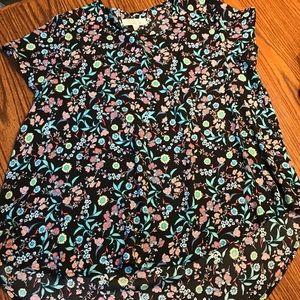 EUC Ladies Print Blouse by Pink Rose sz XL